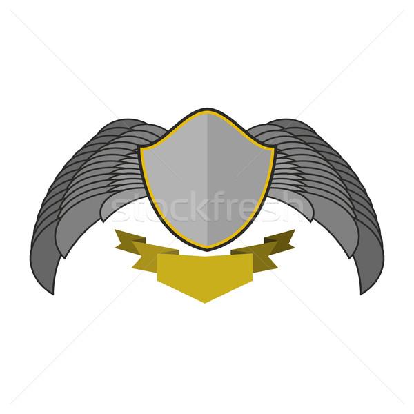シールド 翼 ロゴ エンブレム アンティーク コート ストックフォト © popaukropa