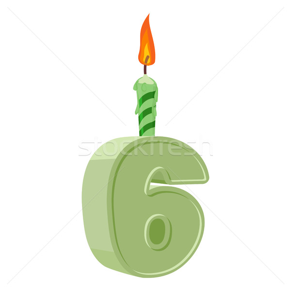 Yıl doğum günü numara mum tatil Stok fotoğraf © popaukropa