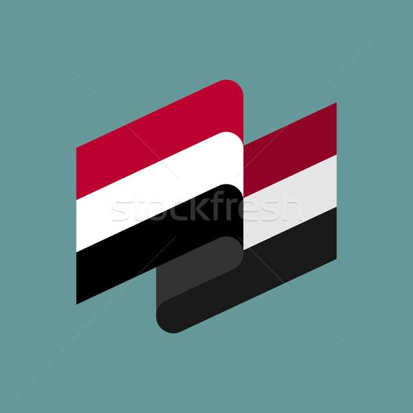 Yemen flag ribbon isolated. Yemeni tape banner. National symbol  Stock photo © popaukropa