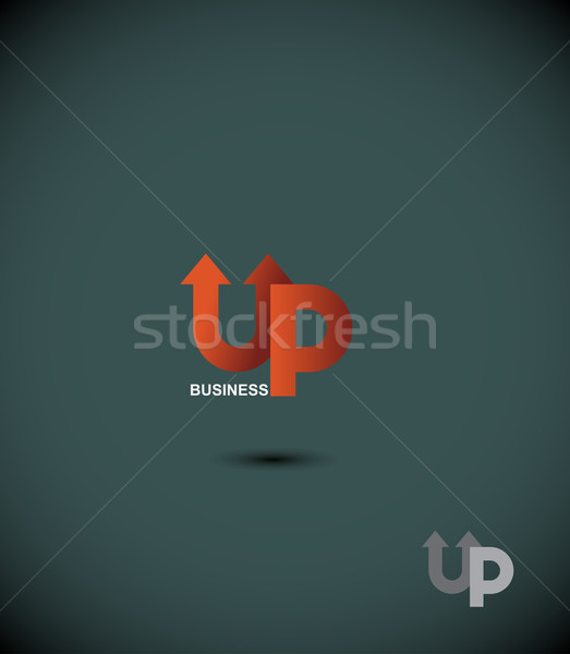 logo business up. Up arrow. The Eminence. Concept template for b Stock photo © popaukropa