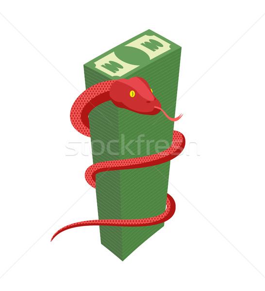 Vermelho serpente grande dinheiro cobra Foto stock © popaukropa