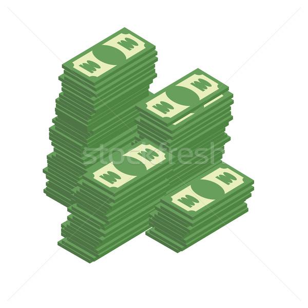 Haufen Cash Dollar Reichtum Business Geld Stock foto © popaukropa