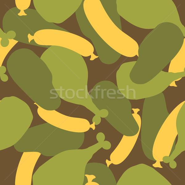 Katonaság álca étel hús textúra hadsereg Stock fotó © popaukropa