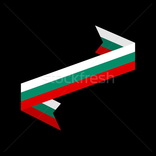 Bulgaria flag ribbon isolated. Bulgarian tape banner. National s Stock photo © popaukropa