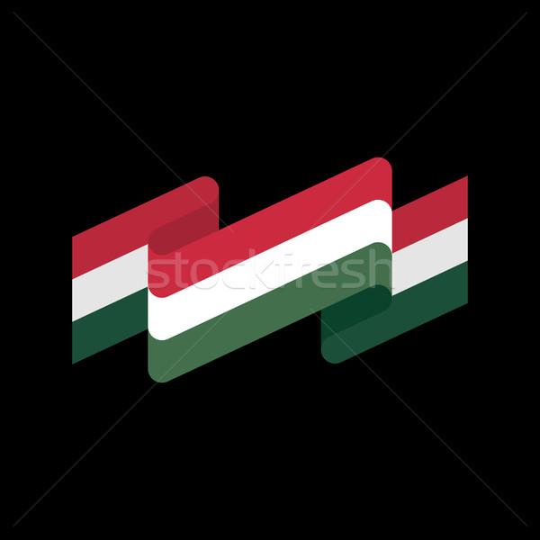 Banderą odizolowany węgierski wstążka banner symbol Zdjęcia stock © popaukropa