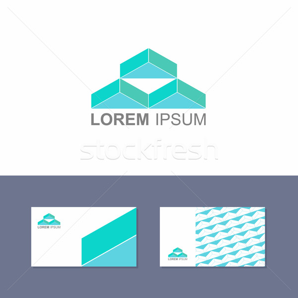 Logo design element with business card template Stock photo © popaukropa