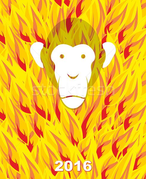 Capodanno 2016 scimmia fiamma anno fuoco Foto d'archivio © popaukropa