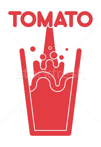 Tomatensap glas spray vers vector voedsel Stockfoto © popaukropa