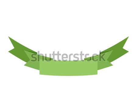 Ribbon isolated template green. Decorative tape for heraldry. Re Stock photo © popaukropa