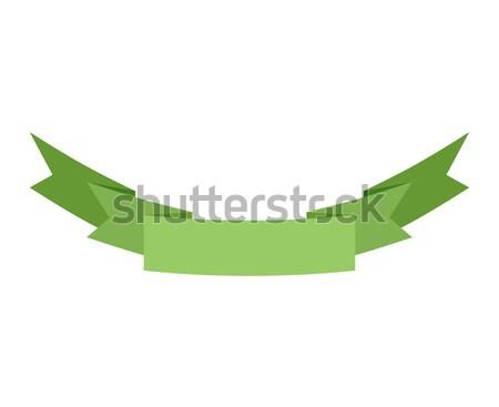 лента изолированный шаблон зеленый декоративный лента Сток-фото © popaukropa