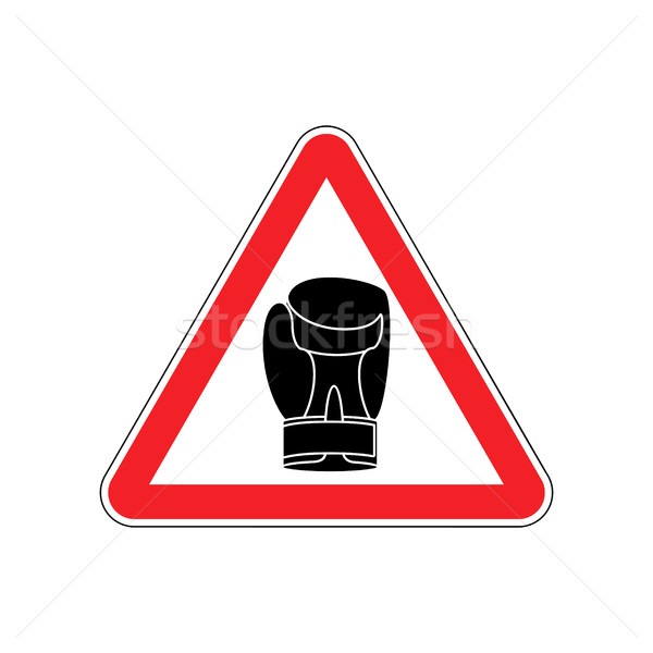 Warning sign boxung. Symbol Hazard attention of dangerous boxer. Stock photo © popaukropa