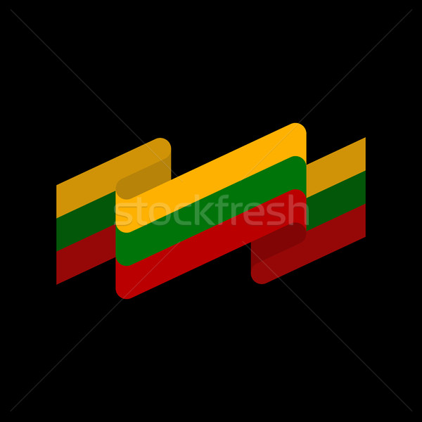 Lithuania flag ribbon isolated. Lithuanian ribbon banner. state  Stock photo © popaukropa