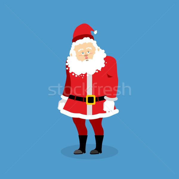 Sad Santa Claus. Grandfather with beard in red suit sad. sorrowf Stock photo © popaukropa