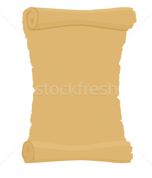 Ancient scroll. Empty the old document. Archaic letter with plac Stock photo © popaukropa
