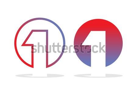 Legelső logo alkat embléma cég design sablon Stock fotó © popaukropa