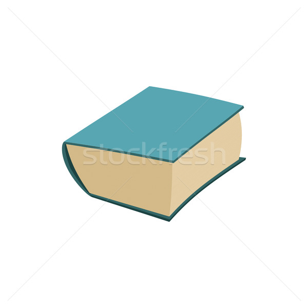 Old book isolated. thick ancient volume on white background Stock photo © popaukropa