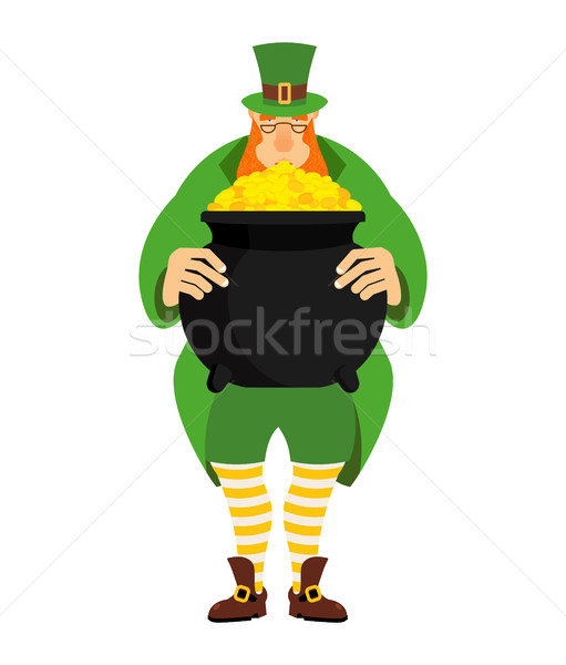 Pote ouro anão verde roupa Foto stock © popaukropa