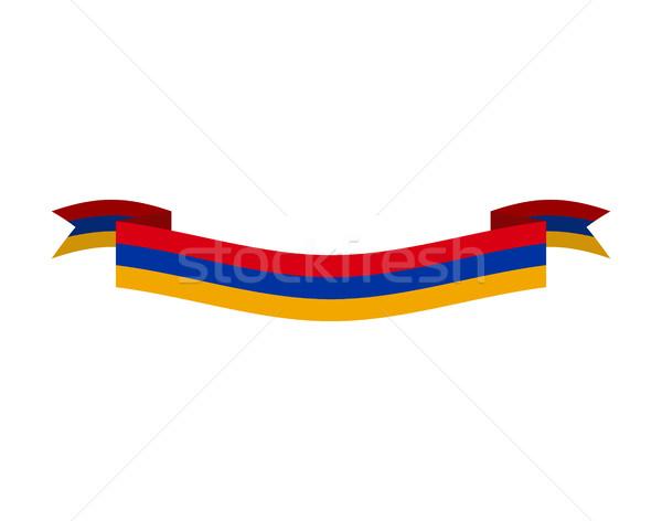 フラグ リボン 孤立した テープ バナー シンボル ストックフォト © popaukropa
