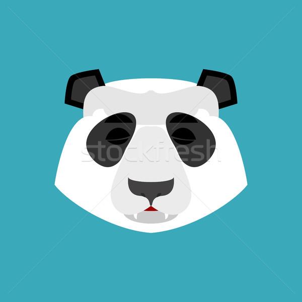 Panda sleeping Emoji. Chinese bear asleep emotion isolated Stock photo © popaukropa
