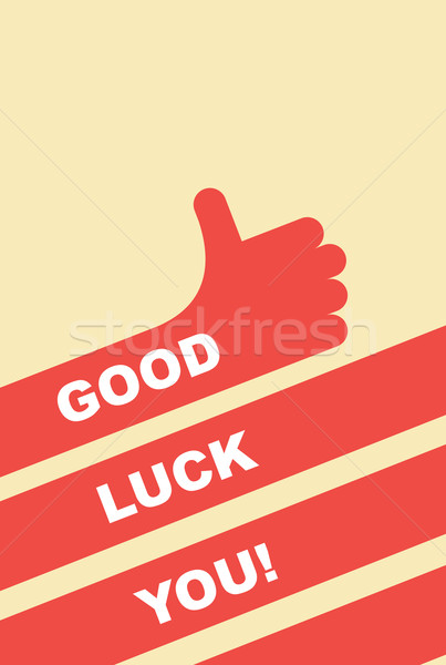 good luck you. greeting card. Hand gesture is good Stock photo © popaukropa