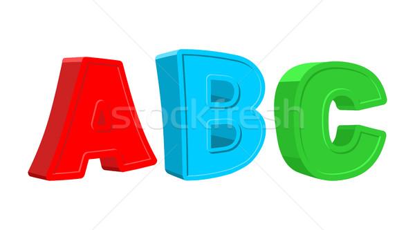 Stockfoto: Kleurrijk · brieven · baby · school · kunst · Blauw