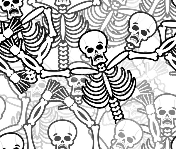 Skelet hel ornament dode botten Stockfoto © popaukropa