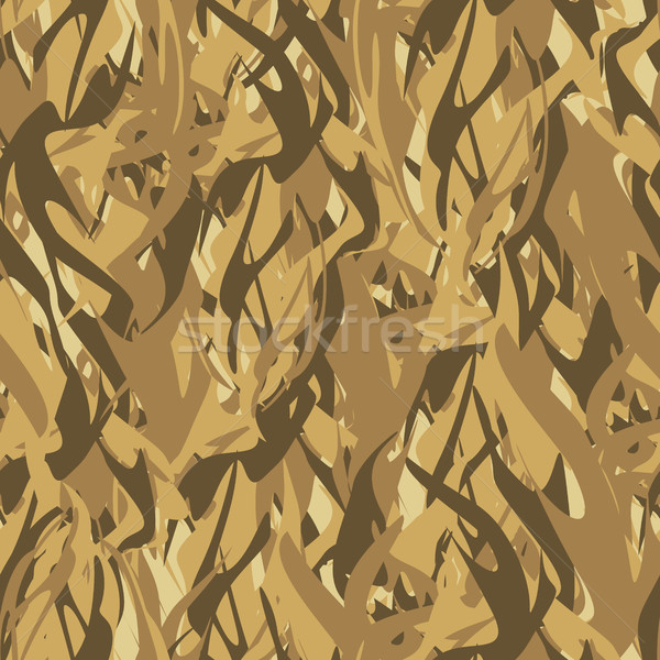 Army pattern of flames. Military  Vector Camouflage texture abst Stock photo © popaukropa