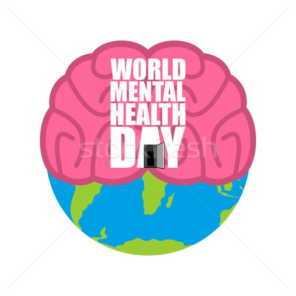 世界 メンタルヘルス 日 脳 地球 海 ストックフォト © popaukropa