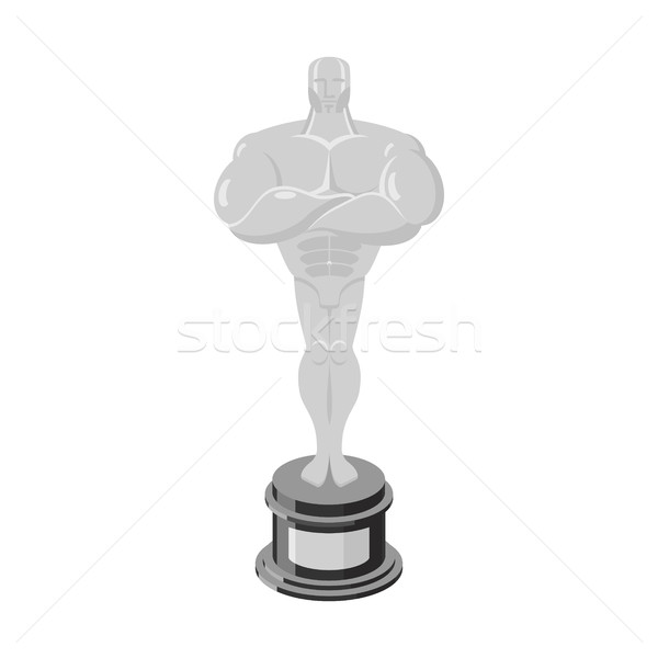 Silver statue Award for third place. Statue premium isolated Stock photo © popaukropa