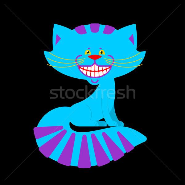 Gato sonrisa aislado fantástico mascota mundo maravilloso Foto stock © popaukropa