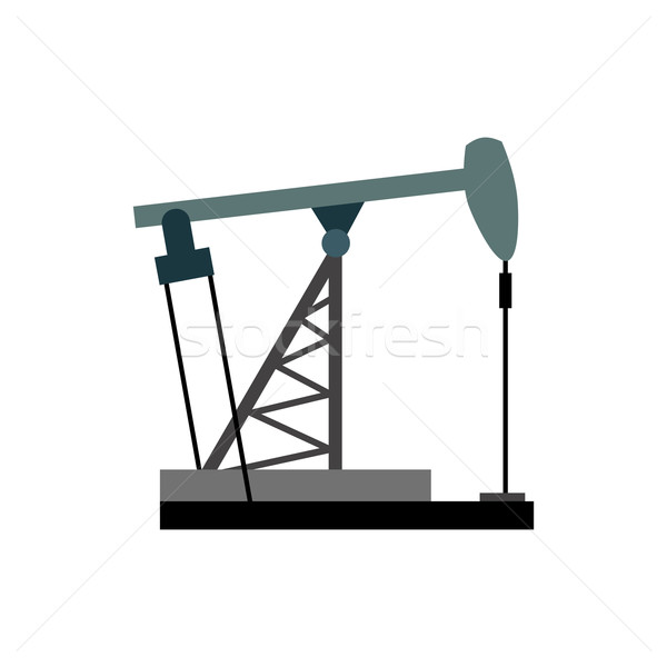 Oil rig. Oil pumps illustration vector. Equipment for the oil in Stock photo © popaukropa