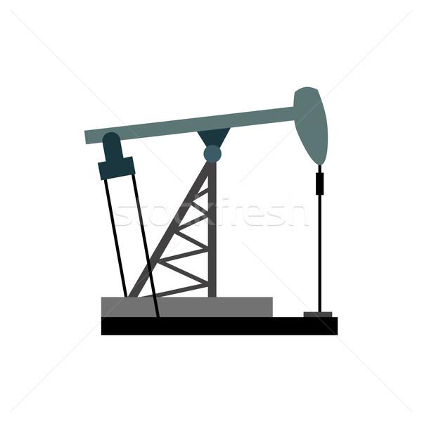 буровая нефть иллюстрация вектора оборудование Нефтяная промышленность Сток-фото © popaukropa