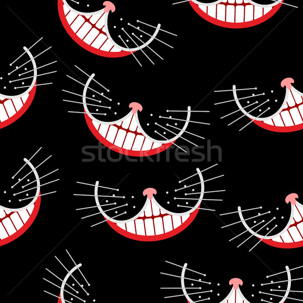 Stock fotó: Macska · mosoly · végtelen · minta · vektor · tömeg · nyúl