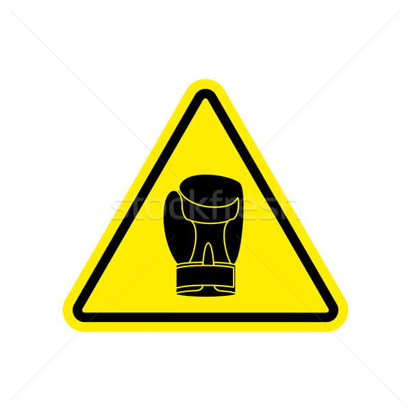 Symbole danger attention dangereux boxeur Photo stock © popaukropa