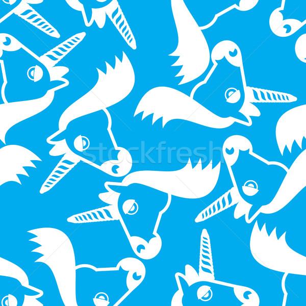 Tête fantastique animaux magie bête Photo stock © popaukropa