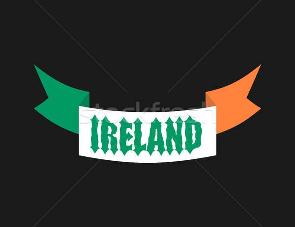 Mde in Ireland emblem. Irish flag sign. National tape. Logo for  Stock photo © popaukropa