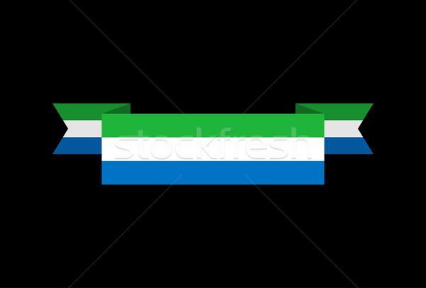 Sierra Leone flag ribbon isolated. Republic tape banner. Nationa Stock photo © popaukropa