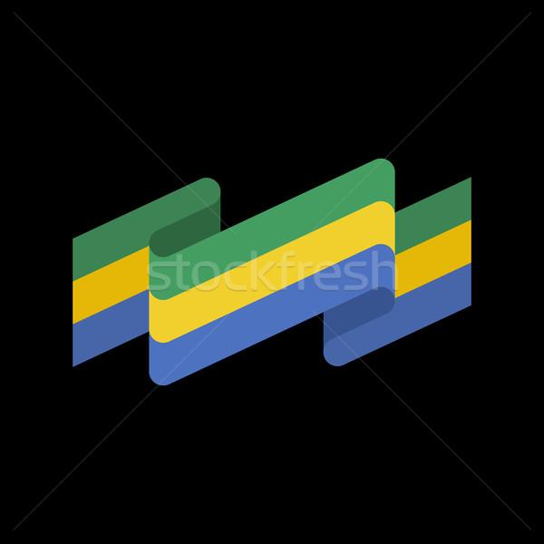 флаг лента изолированный республика лента баннер Сток-фото © popaukropa