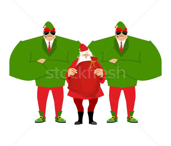 Mikulás karácsony mikulás pr ajándékok új év Stock fotó © popaukropa