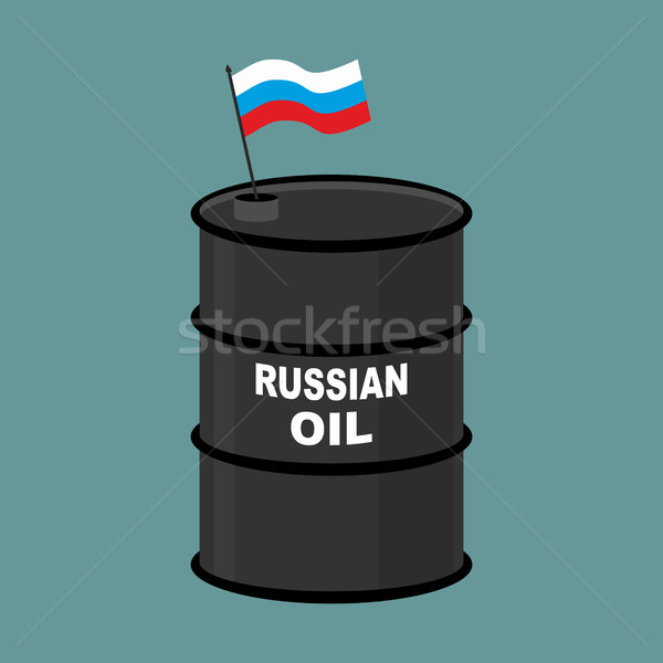 Russian Barrel oil. Russia petroleum. Business illustration Stock photo © popaukropa