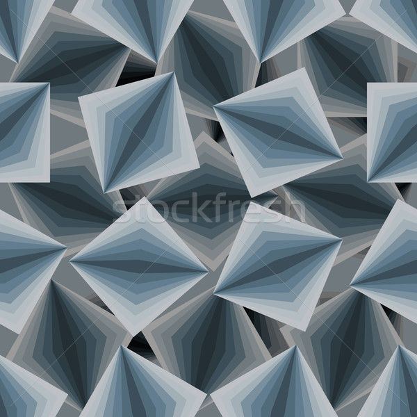 Cubic seamless pattern. 3d background of squares. Texture to fab Stock photo © popaukropa