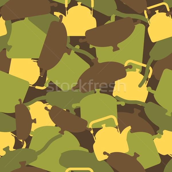 Katonaság textúra konyha kellékek álca hadsereg Stock fotó © popaukropa