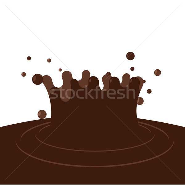 Splash chocolate marrón dulce gotas blanco Foto stock © popaukropa