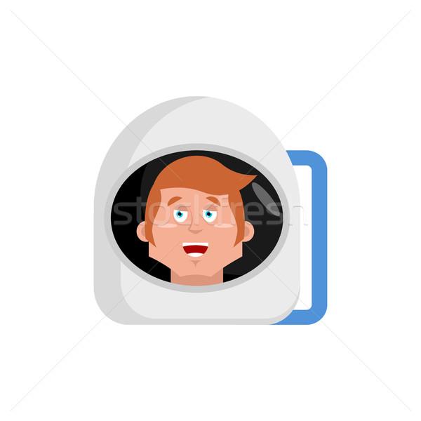 Astronaut gelukkig kosmonaut vrolijk emotie geïsoleerd Stockfoto © popaukropa