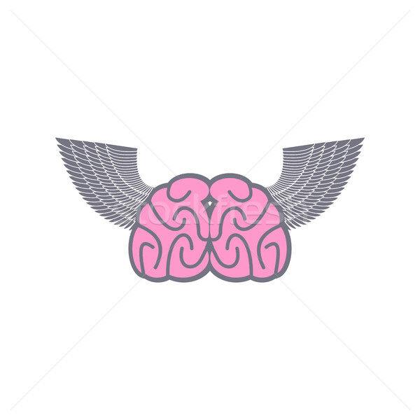 Agy szárnyak szimbólum logo ötletek angyalszárnyak Stock fotó © popaukropa