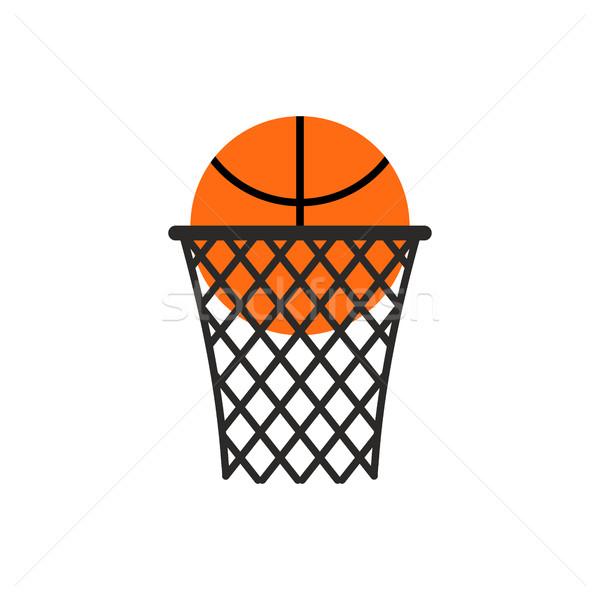 Basquetebol bola anel emblema esportes logotipo Foto stock © popaukropa