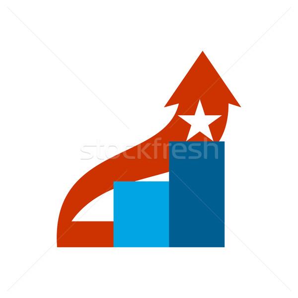 Karriere Leiter logo Schritte Zeichen Klettern Stock foto © popaukropa