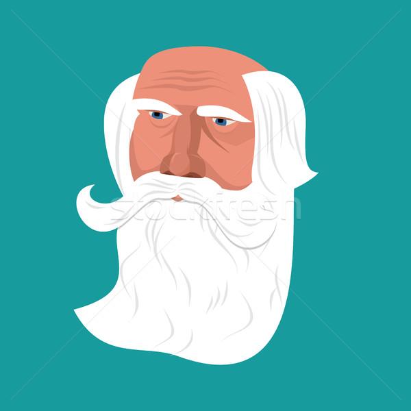 Dziadek szary broda twarz odizolowany głowie Zdjęcia stock © popaukropa