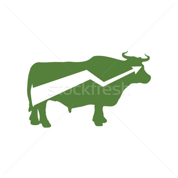 緑 牛 アップ 矢印 交換 トレーダー ストックフォト © popaukropa