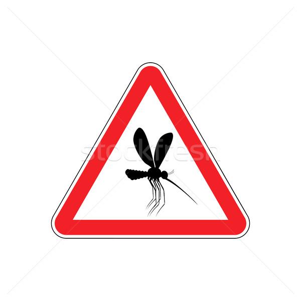 注目 蚊 赤 三角形 警告 道路標識 ストックフォト © popaukropa